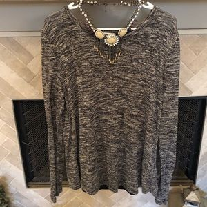 Old Navy Gray Blouse with Sheer Back Panel